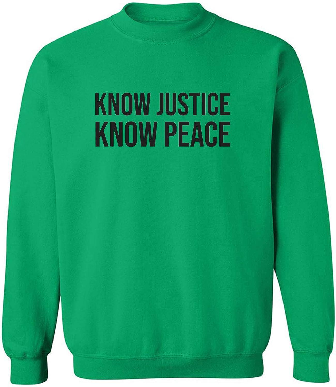 zerogravitee Know Justice Know Peace Crewneck Sweatshirt