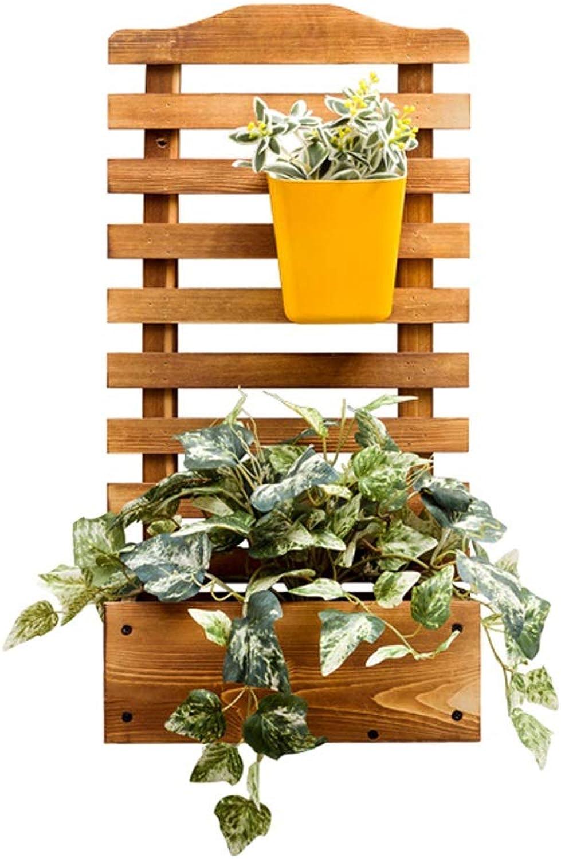 Lishirao Wall planters Pine Wood Plant Stand Flower Stand Wooden Plant Flower Display Stand (Shape   Rectangle)