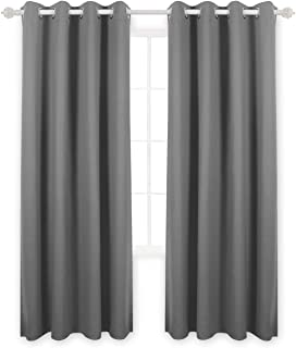 Deconovo Energy Efficient Grommet Top Luxurious Texture Embossed Marble Design Thermal Insulated Room Darkening Blackout C...