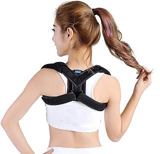 Back Braces Correction Belt, Children's Adult kyphosis, Clavicle with Scapula Fracture Fixation Invisible Posture Belt (Color : Black, Size : L)