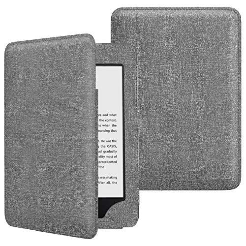MoKo Custodia Compatibile con Kindle 10th Generation 2019 Release, Sottile Supporto Case (Con Auto Sonno/Sveglia) - Denim Grigio