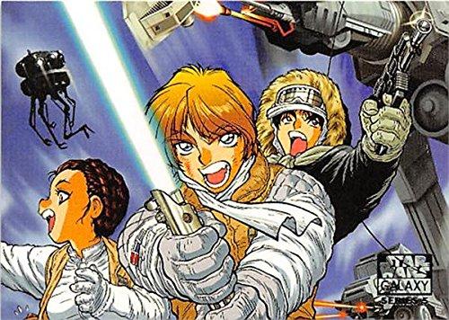 Luke Skywalker Han Solo Leia Organa trading card Star Wars Galaxy 2010 #103 588 Anime Hoth Heroes