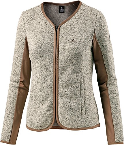 OCK Damen Strickfleece braun 34