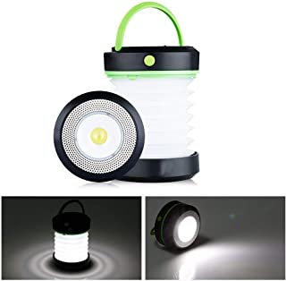 Camping Lantern LED Light, Collapsible Ultra Compact Flashlights for Hiking Camping Tent Garden Patio, Powered by Battery