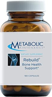 Metabolic Maintenance Rebuild - Bone Health Support Supplement with Calcium, Vitamins D + K2, Zinc, Magnesium Citrate + Tr...