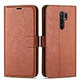 Case Collection Funda de Cuero para Xiaomi Redmi 9 (6,53') Estilo Cartera con Tapa abatible y...