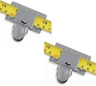 Moiitee Measuring Tape Clip,Lot de 2 pinces Outil de Clip de Ruban à mesurer, Mètre ruban de précision pour mesurer les co...