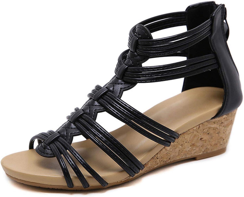 Wild Little Cat Women shoes Comfort Rome Casual Beach Sandals Woman Zip Sandalias Large Size 35-42