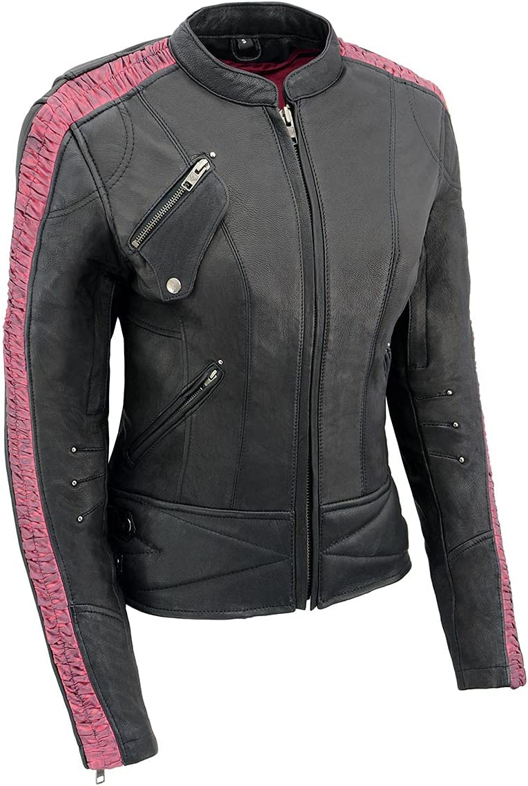 Milwaukee Leather MLL2571 Brand new Ladies Lightweight Black Pink Leat Popular brand in the world and