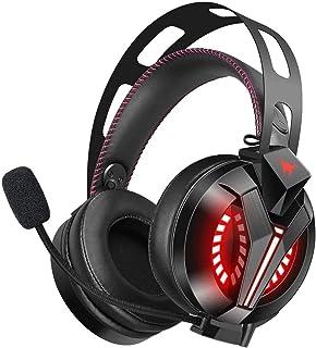 Audífonos Gamer para PC - Combatwing Xbox Auriculares 7.1 Auriculares para PC con sonido envolvente y micrófono con cancelación de ruido Los mejores auriculares para juegos para PS4 / PS2 / PC / Mac / Celulares / Xbox One (Rojo)