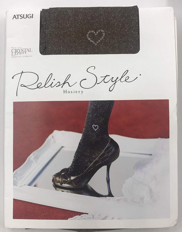 (ストッキング)Relish Style ハートストーンワンポイント パンティストッキング ブラウン/ゴールドラメ FP18711【ラメ ゴールド】1944円→500円