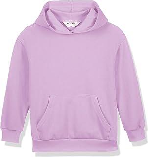 Kid Nation Kids Unisex Soft Fleece Drop Shoulder Hooded Sweatshirt Casual Hoodie for Boys and Girls 4-12 Years