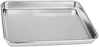 Hengdai Plat à four compact en acier inoxydable pour grille-pain professionnel, robuste et sain, bord profond, finition mi...