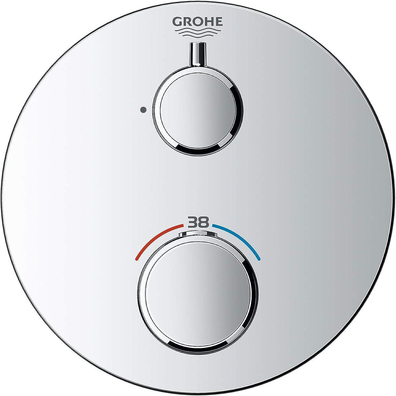 GROHE 24075000 Thermostat-Brausebatterie, rundes Design, ohne ohne Umstellung