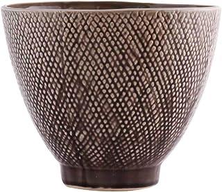 Little Green House Brown Ceramic Round Decorative Vase - Medium