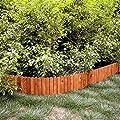YANP Log Roll Border as Easy Plug-in Fence Imple Installation Outdoor Flexible Weatherproof Wood Garden Edging Border (30CM Brown)