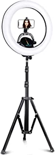"""UBeesize Ring Light Kit: 17.5"""" Outer Led Ring Light with Wireless Control, Professional Bi-Color 3000K-6000K Circle Light..."""