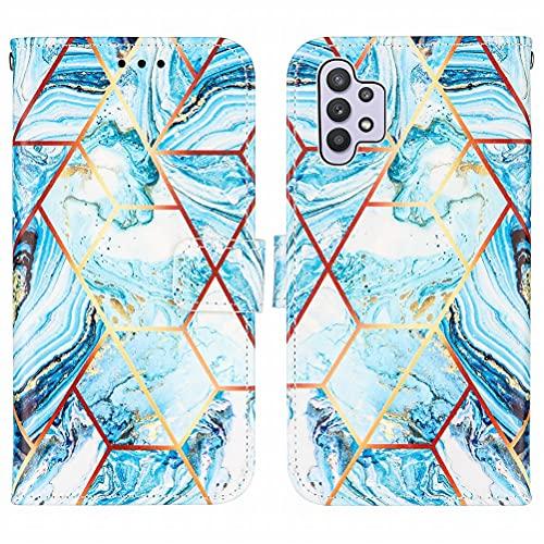 Yiizy Funda para Samsung Galaxy A32 5G Carcasa Cuero Tapa Moda Piel Billetera con Ranura Tarjeta Soporte Cierre Magnético Silicona Suave Protector Carcasa Galaxy A32 5G, Mármol 5