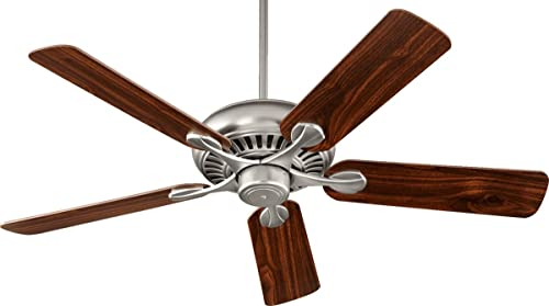 lowest Quorum outlet online sale 91525-65 Transitional 52``Ceiling Fan from Pinnacle Collection in Pewter, sale Nickel, Silver Finish, sale