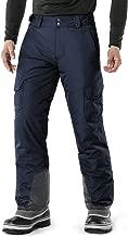 TSLA Men's Rip-Stop Snow Pants Windproof Ski Insulated Water-Repel Bottoms