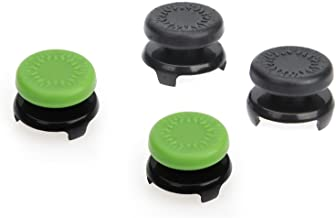 AmazonBasics Xbox One Controller Thumb Grips - Pack of 4, Black And Green