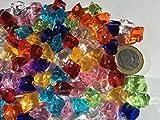 CRYSTAL KING 100 Stück 15mm Glitzernde Bunte Deko Eis Diamanten Brillianten Strasssteine Acrylsteine basteln Dekosteine Gltzersteine Strass Steine Zum Verzieren Dekorieren - 2