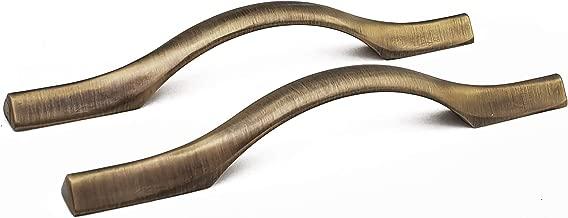 Aquieen Wardrobe Cabinet Pull Handle AQ - 701 (96 MM, Antique Brass)