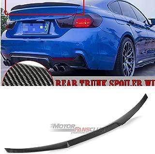MotorFansClub Rear Trunk Spoiler Wing for BMW F36 428i 430i 435i 440i (Real Carbon Fiber)