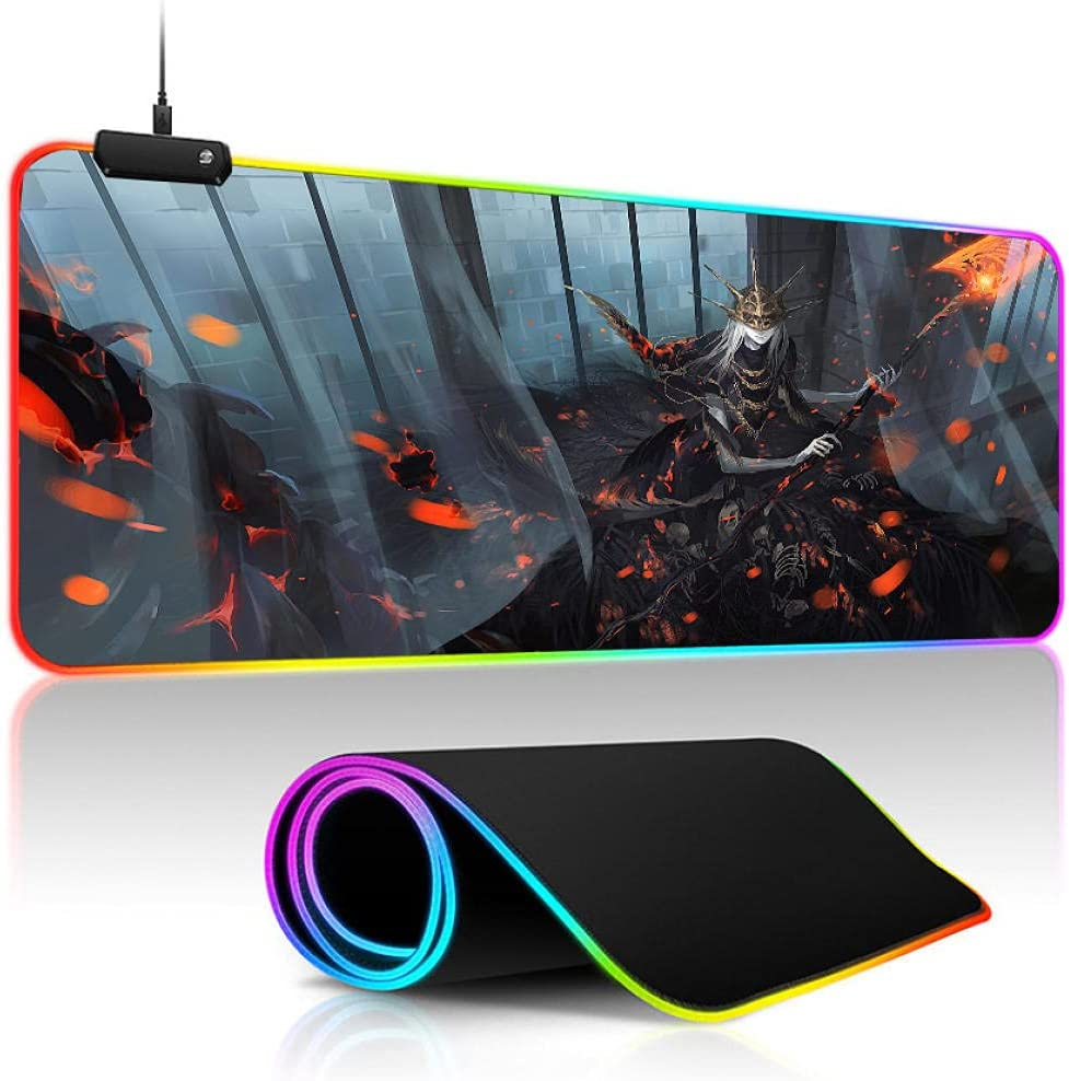 Mouse Pads Dark Souls Gaming Topics on TV Pad LED RGB Ba Anime Keyboard Cash special price