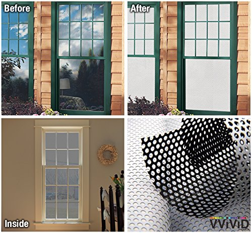 VViViD White Perforated Vinyl Window Film to Prevent Bird Strike (17.9 inches x 54 inches)