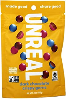 Unreal, Candy Coated Chocolate Crispy Quinoa Gems Bag, 5 Ounce