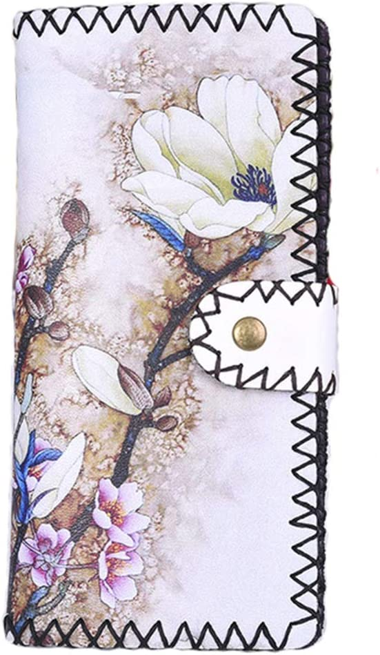 HorBous Ladies Flower Print Wallet PU Women At the price Wall Leather Max 62% OFF Vintage