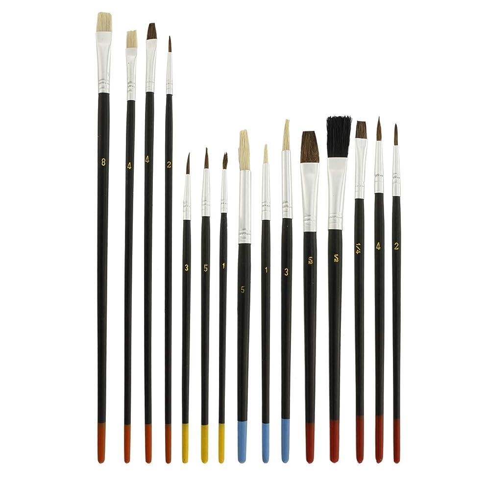 US Art Supply 15 Piece Multi-Purpose Brush Set