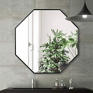 Espejo espejo de baño espejo cosmético octogonal con marco de aluminio entrada de pared dormitorio sala de estar espe...