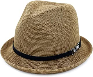 LiWen Zheng Spring Summer Ladies Straw Hat Jazz Hat Sunscreen Straw Hat Curling Small Hat Lovers Sun Hat