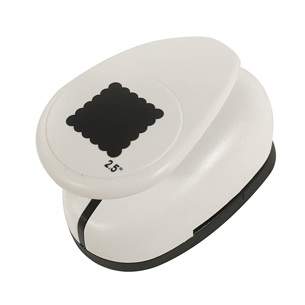 Paperfuel Jumbo Square Shell Design Paper Craft Punch, Black/White, One Size