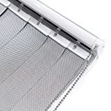LETUA Solar Vertical Window Blinds, 5% Mesh Fabric, Light Fitering, Reduce Sun Glare, UV Protection, Grey Window Shades for Slidding Door, French Window, Room Divider, Glass Wall,Oversized Windows…