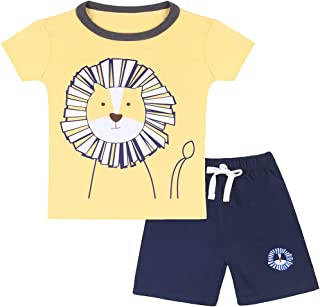 Neeseelily Baby Boy Short Sleeve T-Shirts and Shorts 2pcs Set Clothes