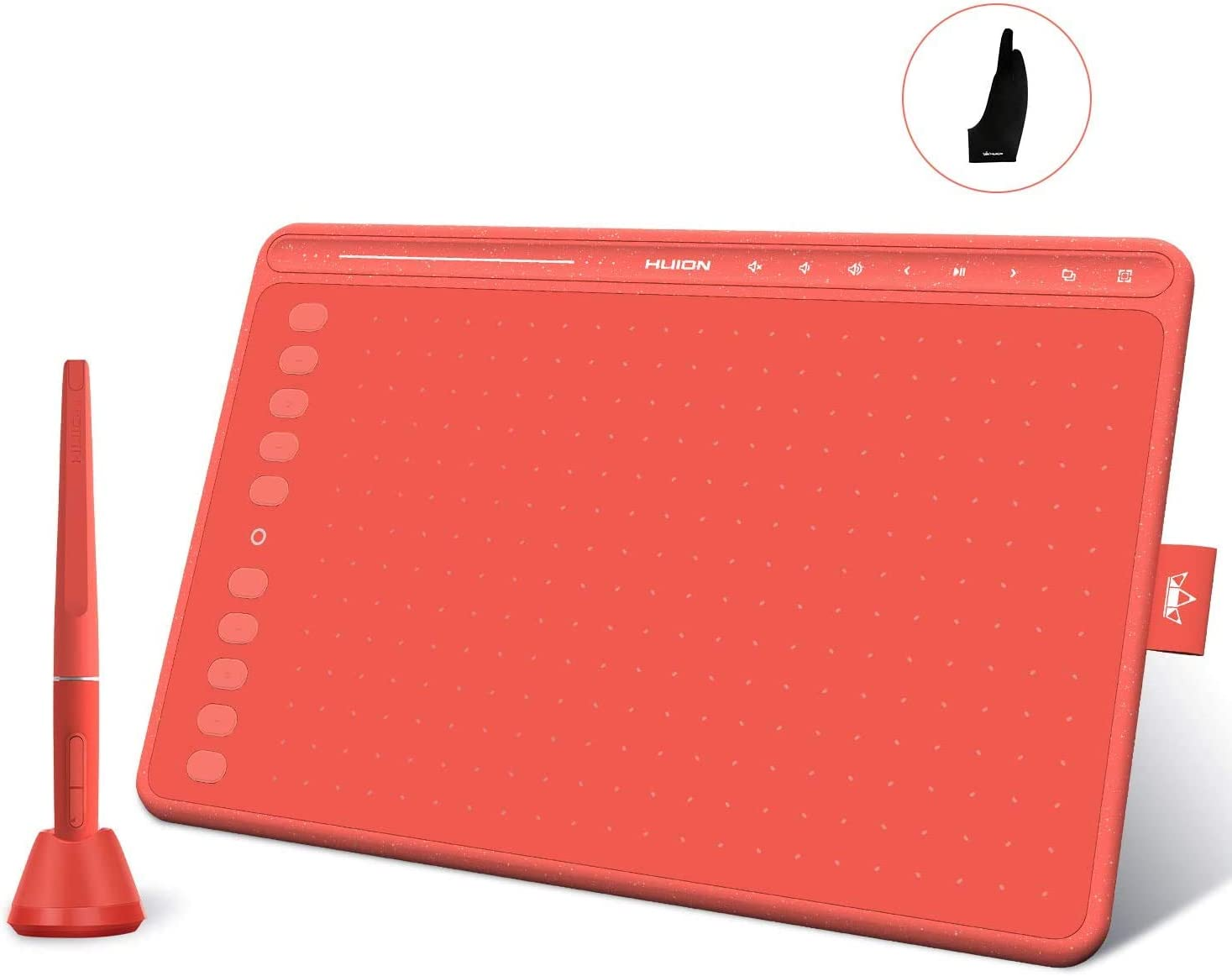 Boston Mall 2020 HUION HS611 Red Graphics Tablet Dealing full price reduction Support Drawing Android wit