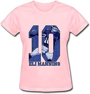 YSAU Women's Eli Manning T-Shirt,100% Organic Cotton