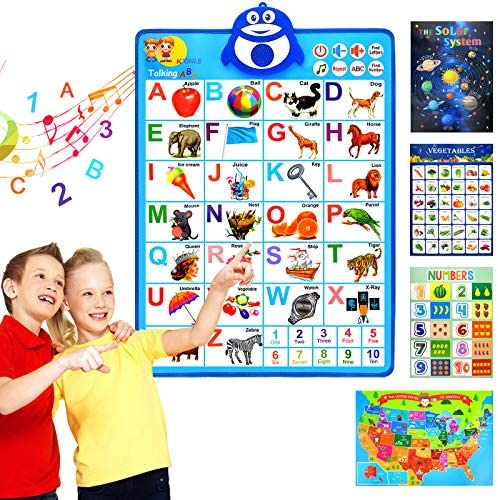SIHOHAN Talking ABC Alphabet Poster Wall Interactive Educational Learning Toys for 234567 Year product image