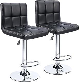 Homall Bar Stools Modern PU Leather Adjustable Swivel Barstools, Armless Hydraulic Kitchen Counter Bar Stool Synthetic Lea...