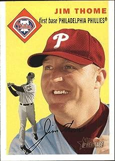 2003 Topps Heritage #190a Jim Thome Phillies MLB Baseball Card NM-MT