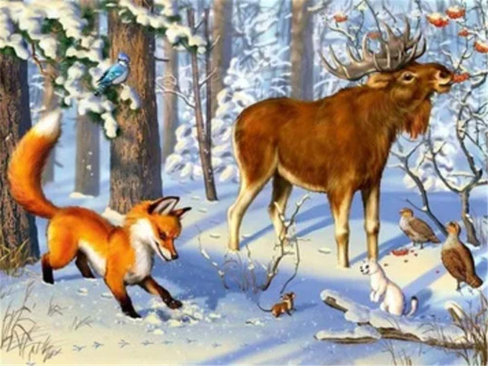 Diamond Painting Al sold out. Kits Tree Deer 70x180cm Fox 28x72inch Ranking TOP12 Large 5D