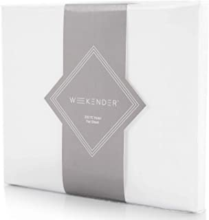 WEEKENDER 200 Thread Count Hotel Flat Sheet-Cotton Rich Blend-White-Queen