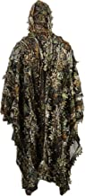Zicac Outdoor 3D Leaves Camouflage Ghillie Poncho Camo Cape Cloak Stealth Ghillie Suit Military CS Woodland Hunting Poncho