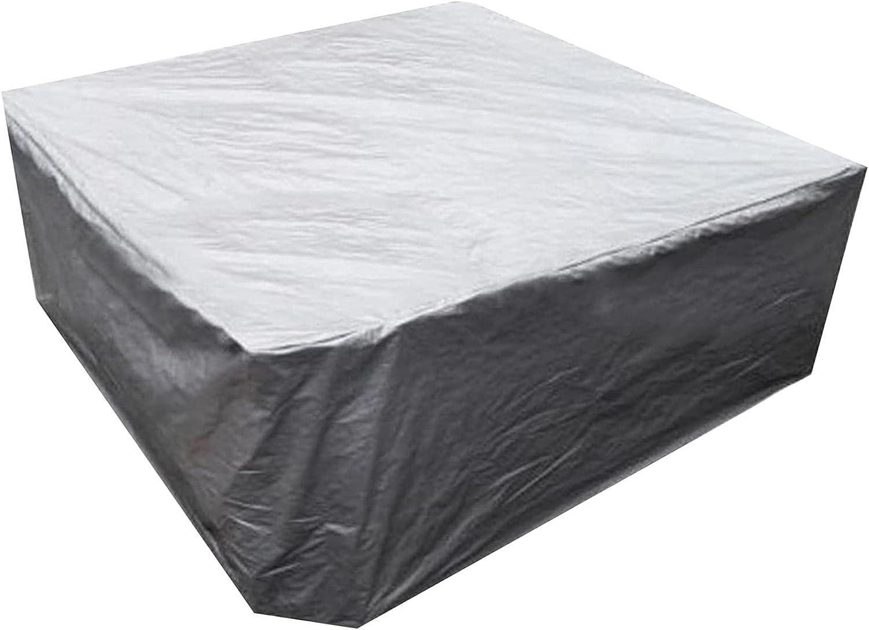 Cubierta para muebles de patio al aire libre, 210d, fundas para sillas de mesa de jardín resistentes, lonas cuadradas impermeables, fundas protectoras duraderas para sofás para 6-8 asientos, -126X126X