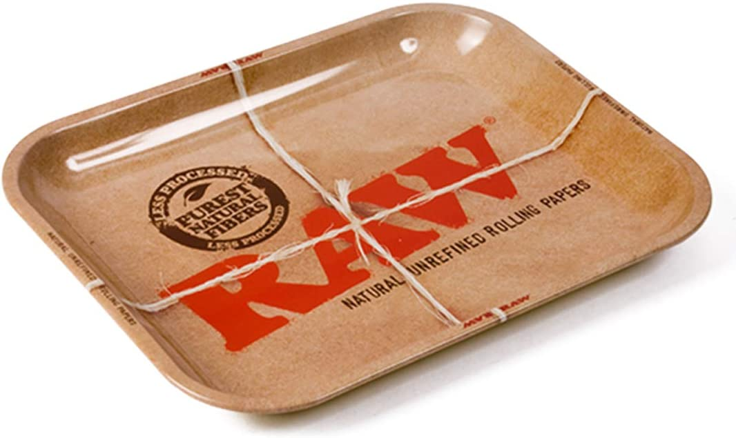"""Lot of 5 New Large RAW Rolling Papers Tray 14/""""x11/"""" Metal Tray Free Shipping"""