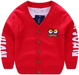695d598e00e6 Kid s Knitted Cardigan Warm Cotton Button-Down Sweater Coat