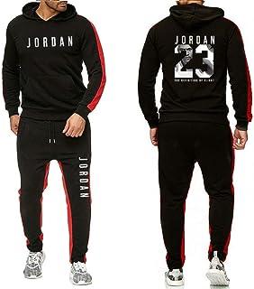 Jordan # 23 Tuta Uomo Autunno Inverno Felpa Con Cappuccio Con Coulisse Pantaloni Maschio Felpe Da Pallacanestro Abbigliame...